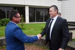 Privítanie ministra vnútra SR Romana Mikulca