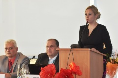 zľava: Viktor Kiss - predseda OZP v SR, Roman Laco - podpredseda OZP v SR, Denisa Saková - ministerka vnútra SR
