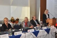 zľava: Denisa Saková - ministerka vnútra SR, Viktor Kiss - predseda OZP v SR, Roman Laco - podpredseda OZP v SR, Jana Maškarová - 1. viceprezidentka PZ