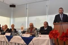 zľava: Jana Maškarová - 1. viceprezidentka PZ, Denisa Saková - ministerka vnútra SR, Viktor Kiss - predseda OZP v SR, Roman Laco - podpredseda OZP v SR, Peter Pellegrini - predseda vlády SR