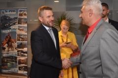 zľava: Peter Pellegrini - predseda vlády SR, Viktor Kiss - predseda OZP v SR